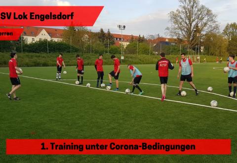 1. Herren – Endlich wieder Training