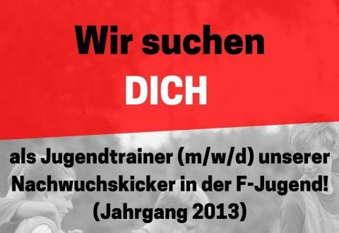 Nachwuchscoach (m/w/d) für F-Jugend gesucht